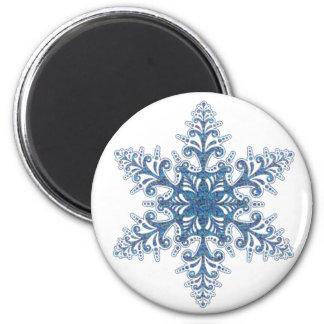青い雪片の磁石 マグネット