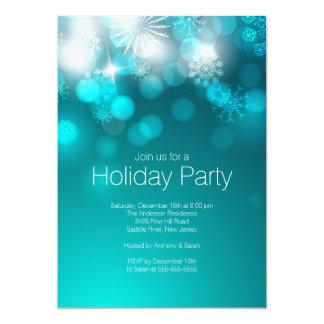 青い雪片及び《写真》ぼけ味ライト休日の招待状 カード