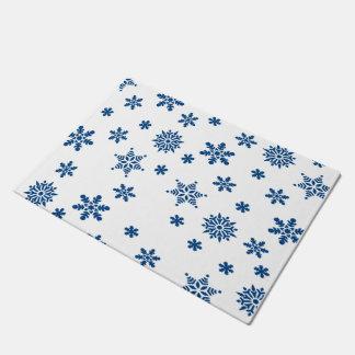 青い雪片 ドアマット