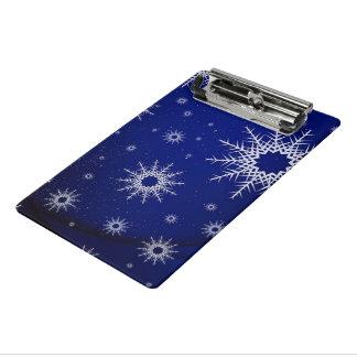 青い雪片 ミニクリップボード
