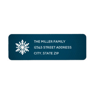 青い雪片-差出人住所ラベル ラベル