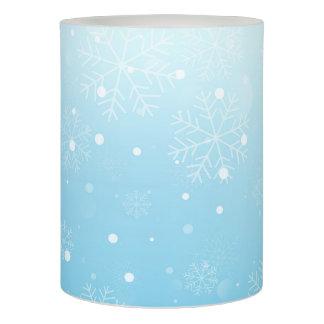 青い雪片 LEDキャンドル