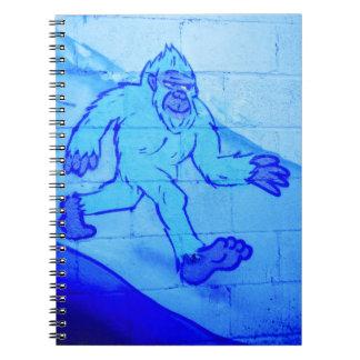 青い雪男のノート ノートブック