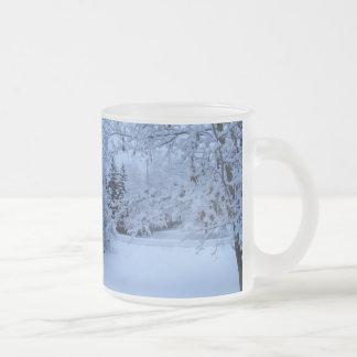 青い雪 フロストグラスマグカップ