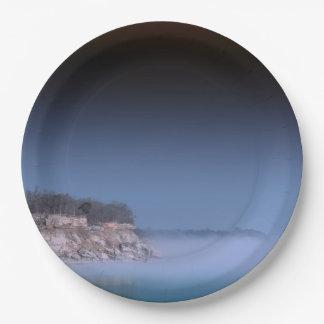 青い霧 ペーパープレート