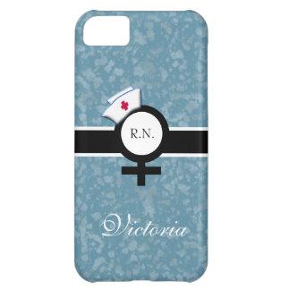 青い霧+女性の印+ナースの帽子か名前 iPhone5Cケース