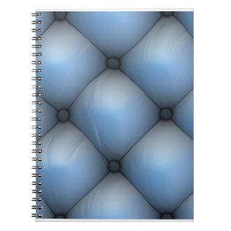青い革タック及びロールインテリア ノートブック