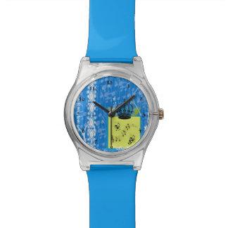 青い音楽は腕時計に注意します 腕時計