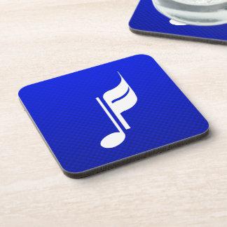 青い音楽ノート ドリンクコースター