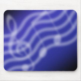 青い音楽 マウスパッド