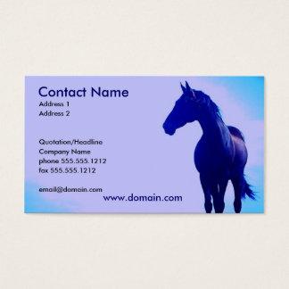 青い馬のシルエットの名刺 名刺