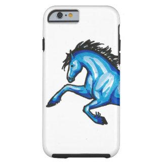 青い馬のiPhone 6/6sの箱の跳躍 ケース
