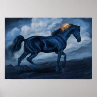 青い馬 プリント