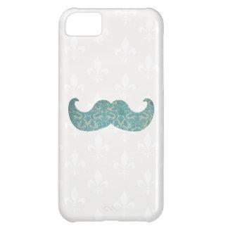 青い髭-ヴィンテージのダマスク織 iPhone5Cケース