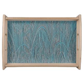 青い魔法の森林Ornamentalのレリーフ、浮き彫り トレー