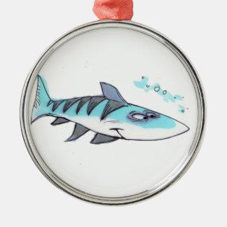 青い魚のオーナメント メタルオーナメント
