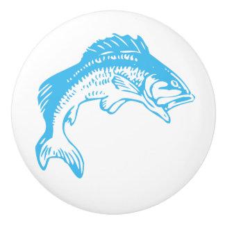 青い魚の陶磁器のノブ セラミックノブ
