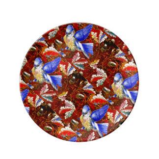 青い鳥のヴィンテージの芸術 磁器プレート