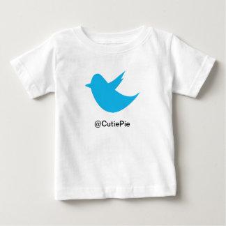 青い鳥の会合媒体 ベビーTシャツ