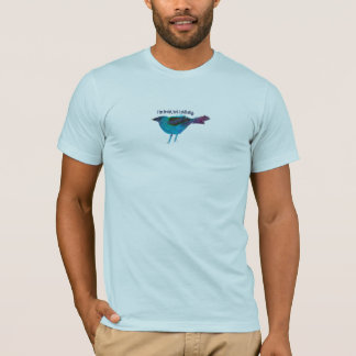 青い鳥の混合メディアのコラージュ Tシャツ