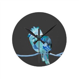 青い鳥 ラウンド壁時計
