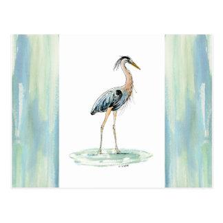 青い鷲の水彩画 ポストカード