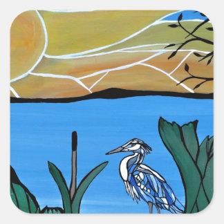 青い鷲湾 スクエアシール