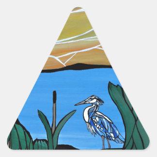 青い鷲湾 三角形シール