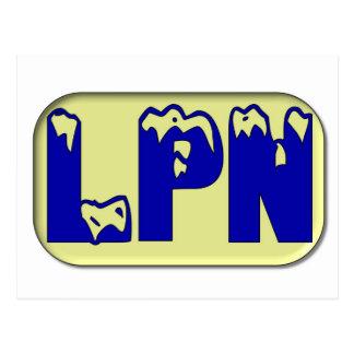 青い黄色LPN ポストカード