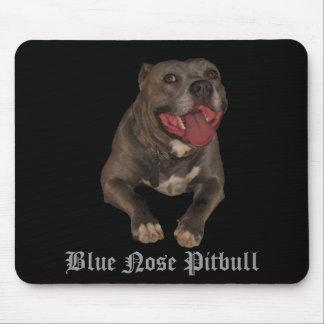 青い鼻のピットブルのマウスパッド マウスパッド