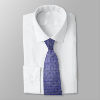 青い2進符号のタイ オリジナルネクタイ