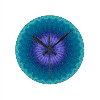 青い3に高品質 ラウンド壁時計