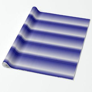 青い3Dいかだの抽象芸術 ラッピングペーパー