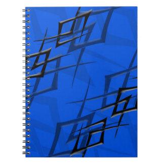 """青い""""とげ""""のノートの黒 ノートブック"""