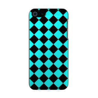 青い~のチェッカーボード メタリックiPhone SE/5/5sケース