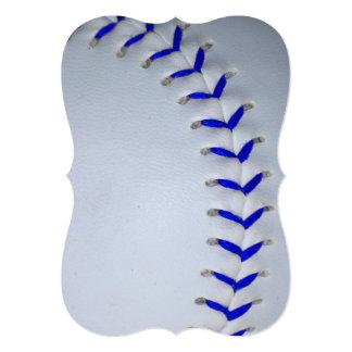 青い|ステッチ|野球|/|ソフトボール オリジナル案内状