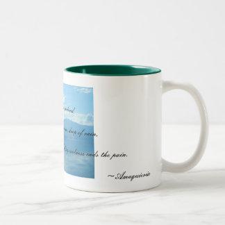 青い ツートーンマグカップ