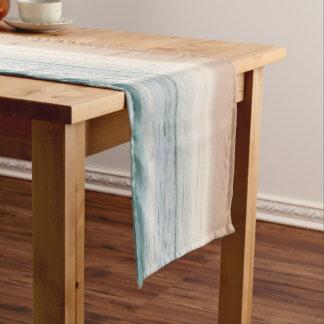 """青い""""ローズクォーツ""""のビーチの抽象的なテーブルのランナー ロングテーブルランナー"""