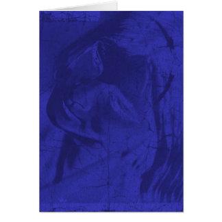 青い|反射 グリーティングカード
