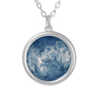 青い|惑星|-|月 オリジナルネックレス