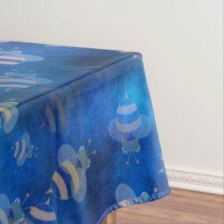 青い《昆虫》マルハナバチの蜂のテーブルクロス テーブルクロス
