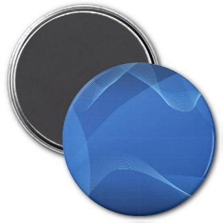青い 波 冷蔵庫用マグネット