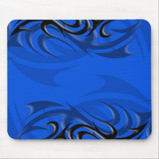 """青い""""煙""""のマウスパッドの黒 マウスパッド"""