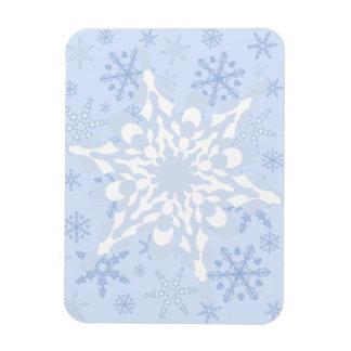 青い + 白い雪片/L青い雪片のブリザード マグネット
