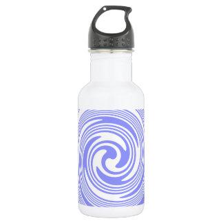 青い、白の渦巻 ウォーターボトル