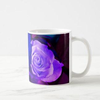 青い|紫色|バラ|マグ|-|カスタマイズ可能 コーヒーマグ