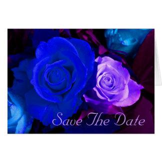 青い 紫色 上がりました 救って下さい 日付 グリーティングカード