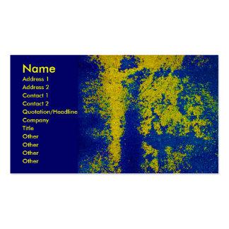 青い|金ゴールド|デザイナー|ビジネス|カード 名刺テンプレート