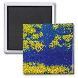 青い 金ゴールド 磁石 I