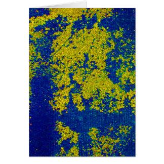 青い 金ゴールド I カード - カスタマイズ可能